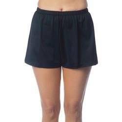 Maxine Of Hollywood Womens Solid Swim Jogger Shorts