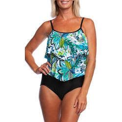 Maxine Womens Nola Tiered Mio Faux Tankini Swimsuit