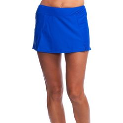 Maxine Womens Wide Waist Band Swim Skirt