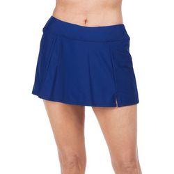 Maxine Womens Wide Waist Band Swim Skirt