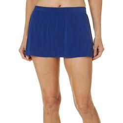 American Beach Womens Solid Shaping Swim Skirt