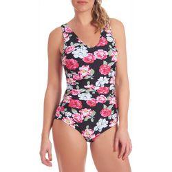 Gloria Vanderbilt Womens Floral MIO One Piece Swimsuit