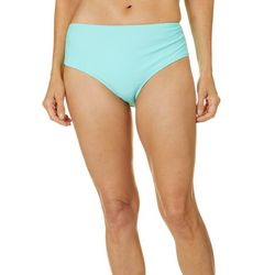 Gloria Vanderbilt Womens Solid Brief Swim Bottoms