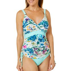 Gloria Vanderbilt Womens Watercolor Floral Tankini Top