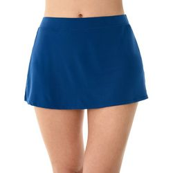Caribbean Joe Womens Shaping Solid Swim Skirt
