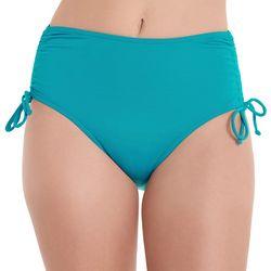 Caribbean Joe Womens Solid Side Tie Swim Bottoms