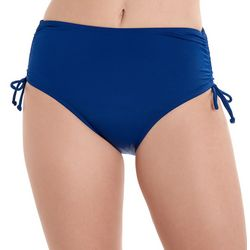 Caribbean Joe Womens Solid Adjustable Swim Bottoms