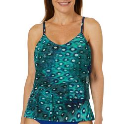 St. Tropez Womens Wild Things Mesh Tiered Tankini Top