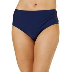 St. Tropez Womens Solid Mid Rise Swim Bottoms