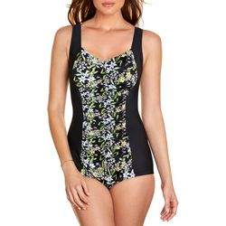 Paradise Bay Womens Floral Mio One Piece Swimsuit