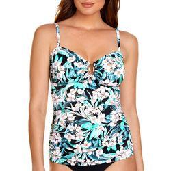 Paradise Bay Womens Magnolia Ring Detail Tankini Top