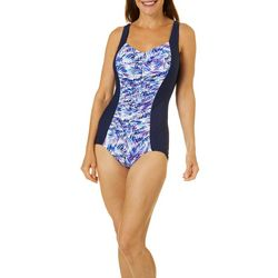 Paradise Bay Womens Palm Mio Girl Leg One Piece Swimsuit