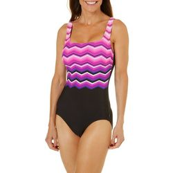 Reebok Womens Thunder Struck One Piece Swimsuit