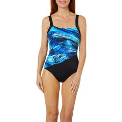 Reebok Womens Northern Light One Piece Swimsuit