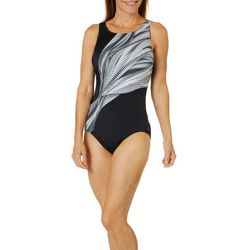 Reebok Womens Mod Squad One Piece Swimsuit