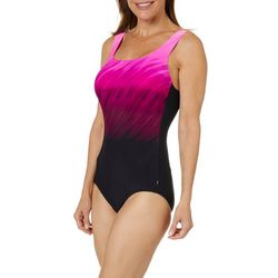 Reebok Womens Wind Blown One Piece Swimsuit
