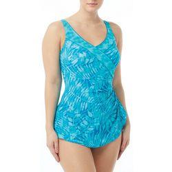 Roxanne Womens Marina Bay Sarong One Piece Swimsuit