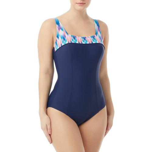 af7a461d4b Roxanne Womens Navajo Springs Square Neck One Piece Swimsuit | Bealls  Florida