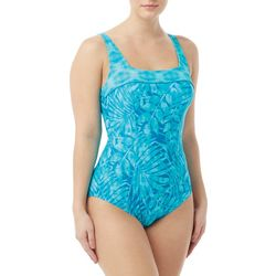 Roxanne Womens Marina Bay Square Neck One Piece Swimsuit
