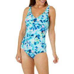 Roxanne Womens Sea Shimmer One Piece Swimsuit