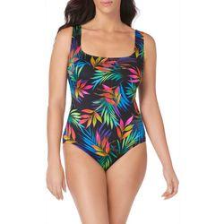 Longitude Womens Amafli Keyhole Twist One Piece Swimsuit