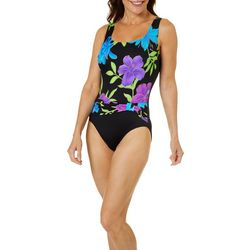 Longitude Womens Casanova Sash Tank One Piece Swimsuit