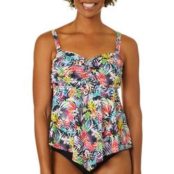 A Shore Fit Womens Floral Print Hankercheif Tankini
