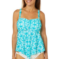 A Shore Fit Womens Tie Dye Print Hankercheif  Tankini Top