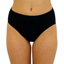 A Shore Fit  Womens Solid Brief Swim Bottoms