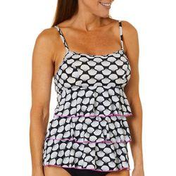 163d523c3d A Shore Fit Womens Fan Print Triple Tier Tankini Top