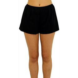 A Shore Fit Womens Solid Swim Shorts