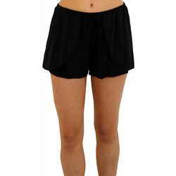 A Shore Fit Womens Faux Wrap Shaping Swim Shorts
