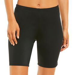 A Shore Fit Womens Solid Hip Minimizer Swim Bike Shorts