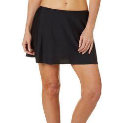 Del Raya Womens Solid Swim Skirt