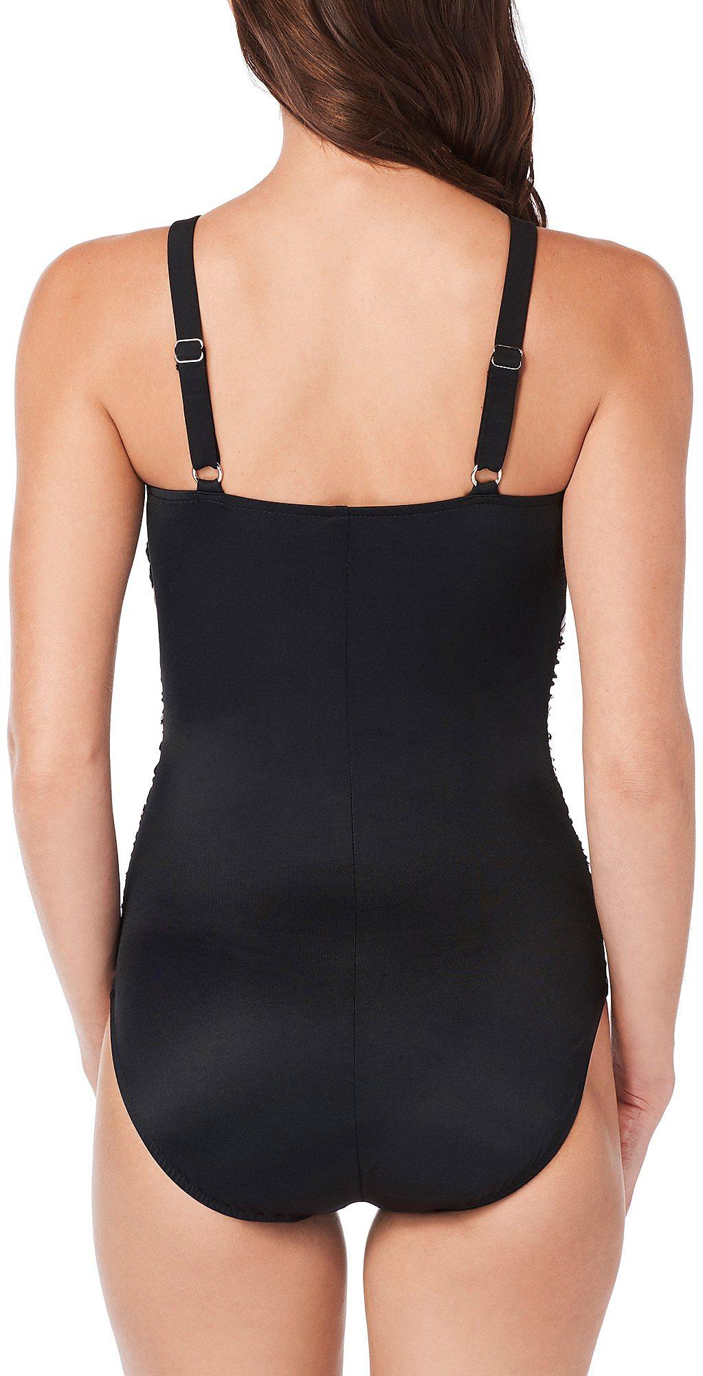 2381f9c5d17 Trimshaper Womens Hard To Be Leaf Lexie One Piece Swimsuit | eBay