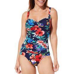Trimshaper Womens English Garden Averi One Piece Swimsuit