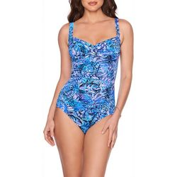 Trimshaper Womens Polynesia Averi One Piece Swimsuit
