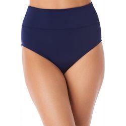 Trimshaper Womens Solid High Waist Swim Bottoms