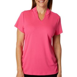 Ruby Road Favorites Womens Solid Pique Polo Golf Shirt