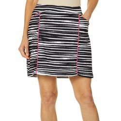 Ruby Road Favorites Womens Zebra Print Pull On Skort