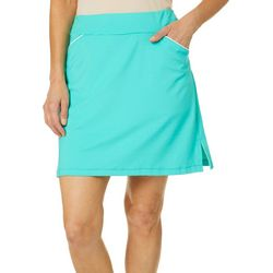 Ruby Road Favorites Womens Solid Pull On Skort