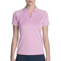 Skechers Womens Go Golf Eagle Stripe Polo Shirt