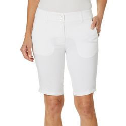Skechers Womens Go Golf High Side Solid Bermuda Shorts