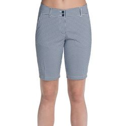 Skechers Womens Go Golf High Side Plaid Bermuda Shorts