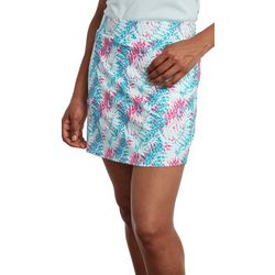 Pebble Beach Womens Tropical Palm Leaf Skort