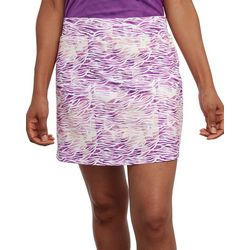 Pebble Beach Womens Zebra Print Pull On Skort