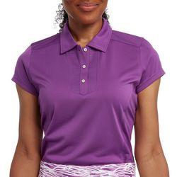 Pebble Beach Womens Solid Short Sleeve Polo Shirt