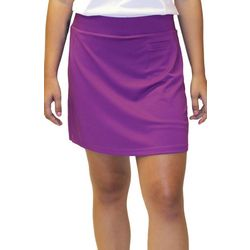Pebble Beach Womens Solid Pull On Skort