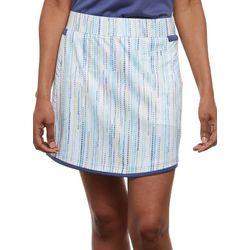 Pebble Beach Womens Dotted Striped Skort