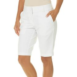 Pebble Beach Womens Solid Bermuda Shorts